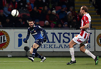 Fotball<br /> Tippeliga 2013<br /> Tromsø IL - Strømsgodset <br /> 03.11.2013<br /> <br /> Mounir Hamoud, Strømsgodset<br /> Ruben Kristiansen, Tromsø<br /> <br /> Foto: Tom Benjaminsen, Digitalsport