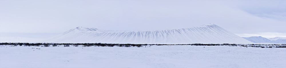 Hverfell mountain is in Myvatnssveit, north-east Iceland.