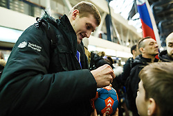Blaz Blagotinsek during Reception of Slovenian National Handball team bronze medalist from Handball world cup in France, 29th January 2017,  Zagreb, Croatia. Photo by Grega Valancic / Sportida