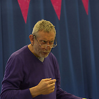 Michael Rosen<br /> On stage at the Stoke Newington Literary Festival. 6 June 2015<br /> <br /> Picture by David X Green/Writer Pictures
