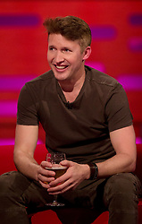 James Blunt during filming of the Graham Norton Show at The London Studios.
