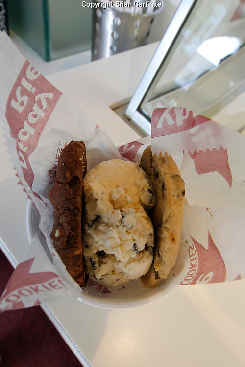 A Diddy Riese Ice Cream Sandwich near UCLA in Los Angeles on Saturday, May 9th, 2011.