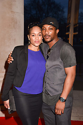 Ashley Walters and Danielle Isaie at a preview of the 'From Selfie To Self-Expression' exhibition at The Saatchi Gallery, Duke Of York's HQ, King's Road, London, England. 30 March 2017.