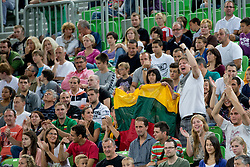 Fans of Lithuania during basketball match between National teams of Serbia and Spain in final match of U20 Men European Championship Slovenia 2012, on July 22, 2012 in SRC Stozice, Ljubljana, Slovenia. (Photo by Matic Klansek Velej / Sportida.com)