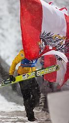 06.01.2012, Paul Ausserleitner Schanze, Bischofshofen, AUT, 60. Vierschanzentournee, FIS Ski Sprung Weltcup, Podium, im Bild Tagessieger Thomas Morgenstern (AUT) // winner of the tay first place Thomas Morgenstern of Austria celebrate during 60th Four-Hills-Tournament FIS World Cup Ski Jumping at Paul Ausserleitner Schanze, Bischofshofen, Austria on 2012/01/06. EXPA Pictures © 2012, PhotoCredit: EXPA/ Johann Groder