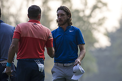 October 13, 2017 - Monza, Italy - Tommy Fleetwood of England on Day One of the Italian Open at Golf Club Milano  (Credit Image: © Gaetano Piazzolla/Pacific Press via ZUMA Wire)