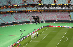 A general view inside the Olympic Stadium during the UEFA Europa League final at The Olympic Stadium, Baku, Azerbaijan.