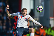 Tottenham Hotspur Forward, Vincent Janssen (9) holds up the ball during the Premier League match between Bournemouth and Tottenham Hotspur at the Vitality Stadium, Bournemouth, England on 22 October 2016. Photo by Adam Rivers.