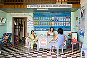 16 MARCH 2006 - KAMPONG CHAM, KAMPONG CHAM, CAMBODIA:  The office of a driving school in the city of Kampong Cham in central Cambodia. Photo by Jack Kurtz
