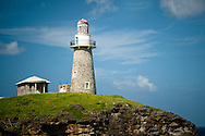 Philippines, Batanes. Lighthouse on Sabtang Island, a part of Batanes, one of most remote islands in the north of the Philippines.