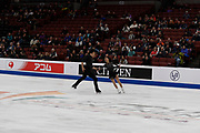 Cheng Peng and yang Jin from China competes in the Pairs Short Program during the ISU - Four Continents Figure Skating Championships, at the Honda Center in Anaheim California, February 5-10, 2019