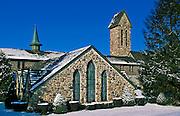 St Joseph's Trappist Abbey church and bell tower, Spencer, Massachusetts, USA