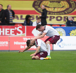 Hearts Tony Watt cele scoring their second goal. Partick Thistle 1 v 2 Hearts, Ladbrokes Premiership match played 27/89/2016 at Firhill.