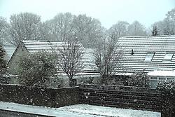 West Lothian Weather, Wednesday 3rd April 2019<br /> <br /> Pictured: Heavy snow falling in West Lothian<br /> <br /> Alex Todd | Edinburgh Elite media