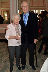 JUNE WHITFIELD and NICHOLAS PARSONS at the Oldie Magazine's Oldie of The Year Awards held at Simpson's In The Strand, London on 4th February 2014.
