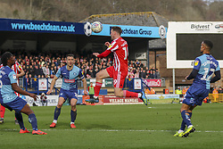 March 9, 2019 - High Wycombe, Buckinghamshire, United Kingdom - Sunderlands Aiden McGready wins a header during the Sky Bet League 1 match between Wycombe Wanderers and Sunderland at Adams Park, High Wycombe, England  on Saturday 9th March 2019. (Credit Image: © Mi News/NurPhoto via ZUMA Press)