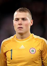 Latvia goalkeeper Vladislavs Kurakins