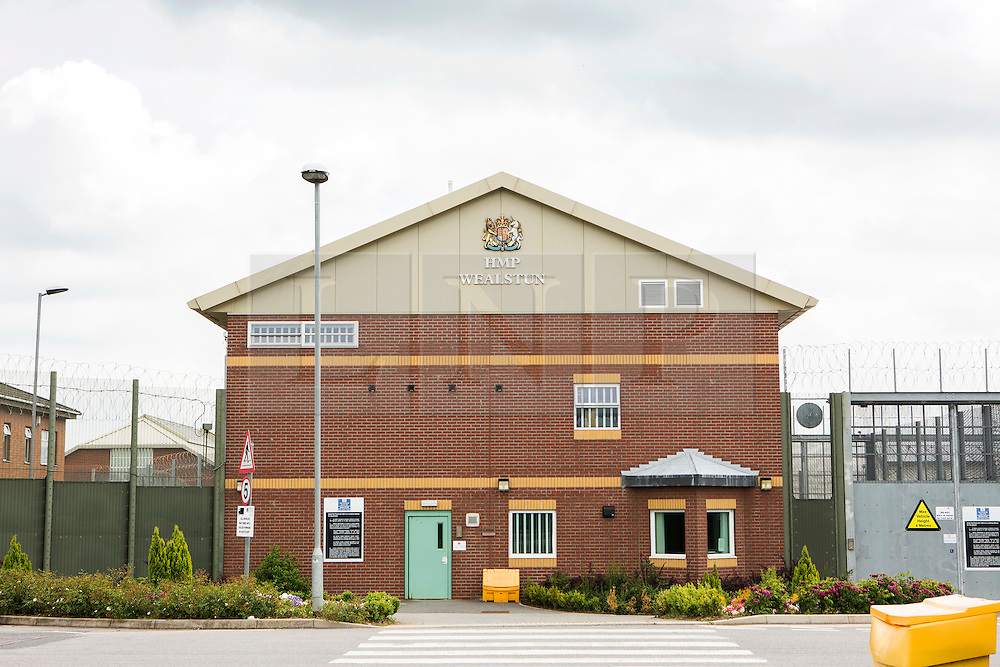 """© Licensed to London News Pictures. 25/06/2015. Wetherby.UK. Picture shows Wealstun Prison near Wetherby in Yorkshire where two inmates have been treated by doctors after suffering a reaction to a cannabis substitute known as Spice. The substance can cause a string of side effect including heart palpitations and acute psychosis. Glyn Travis, assistant secretary of the Prison Officers Association, said the spread of legal highs in prisons was a real concern. """"The system has not managed to work out how to crack down on them. It's illegal to bring substances into prison, but the flood of illicit substances is causing us real problems, There has been a number of suspected serious illnesses and deaths because of it and levels of violence are on the increase. Photo credit : Andrew McCaren/LNP"""