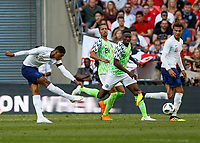 Football - 2018 International Friendly (pre-World Cup warm-up) - England vs. Nigeria<br /> <br /> Marcus Rashford (England) with a late chance for England  at Wembley Stadium.<br /> <br /> COLORSPORT/DANIEL BEARHAM