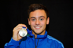 Tom Daley of Plymouth Diving poses with his Gold winners medal from the Mens 10m Platform Final - Photo mandatory by-line: Rogan Thomson/JMP - 07966 386802 - 02/02/2014 - SPORT - DIVING - Southend Swimming & Diving Centre, Southend-on-Sea - British Gas Diving National Cup 2014 Day 3.