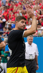CHARLOTTE, USA - Saturday, August 2, 2014: Liverpool's captain Steven Gerrard during the International Champions Cup Group B match at the Bank of America Stadium on day thirteen of the club's USA Tour. (Pic by Mark Davison/Propaganda)