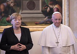 June 17, 2017 - Vatican City State (Holy See) - POPE FRANCIS meets Chancellor ANGELA MERKEL at the Vatican  (Credit Image: © Evandro Inetti via ZUMA Wire)