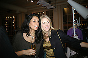 SERENA REES AND DONNA AIR, Book launch for ÔThe Measure' edited by Louise Clarke. 	 commissioned by the London College of Fashion. Bluebird. King's Rd. London. 21 November 2007. -DO NOT ARCHIVE-© Copyright Photograph by Dafydd Jones. 248 Clapham Rd. London SW9 0PZ. Tel 0207 820 0771. www.dafjones.com.