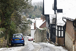 © Licensed to London News Pictures. 04/12/2020. Sutton Valence, UK. Snowy scenes in Sutton Valence in Kent as the south of England experiences snowfall for the first time this winter. Photo credit: Peter Macdiarmid/LNP