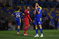 Football - 2020 / 2021 Sky Bet League One - AFC Wimbledon vs Wigan Athletic - Plough Lane<br /> <br /> AFC Wimbledon's Ollie Palmer frustrated as a chance goes wide.<br /> <br /> COLORSPORT/ASHLEY WESTERN
