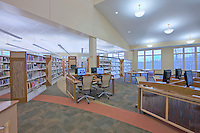 Photographer Jeffrey Sauers of Commercial Photographics of Maryland Architectural InteriorImage of Harford County Public Library Whitford Branch  for Mullan Contracting Company and Lawrence Howard and Associates