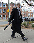 CHARLOTTESVILLE, VA - FEBRUARY 14: Commonwealth attorneys Dave Chapman walks to the Charlottesville Circuit courthouse for the George Huguely trial. Huguely was charged in the May 2010 death of his girlfriend Yeardley Love. She was a member of the Virginia women's lacrosse team. Huguely pleaded not guilty to first-degree murder. (Credit Image: © Andrew Shurtleff