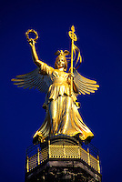 "Viktoria (""Golden Victory""), atop 69 meter high Victory Column, Seigessaule, Berlin, Germany"