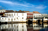 A view of the Old Town, Tavira with part of the old Roman Bridge.