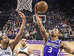 December 31, 2017 - Sacramento, CA, USA - The Sacramento Kings' George Hill (3) gets a rebound against the Memphis Grizzlies on Sunday, Dec. 31, 2017, at the Golden 1 Center in Sacramento, Calif. (Credit Image: © Hector Amezcua/TNS via ZUMA Wire)