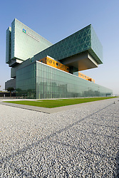 The new Cleveland Clinic Abu Dhabi on Al Maryah Island in Abu Dhabi United Arab Emirates