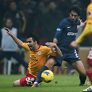Galatasaray's Engin Baytar (L) during their Turkish Super League soccer match Galatasaray between IBBSpor at the TT Arena at Seyrantepe in Istanbul Turkey on Tuesday, 03 January 2012. Photo by TURKPIX