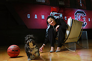 Columbia, SC- March 12, 2018: Coach Dawn Staley, of the South Carolina Gamecocks. Photographed at the Carolina Coliseum.<br /> <br /> Credit: Gerry Melendez for ESPN
