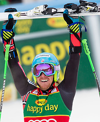 LIGETY Ted of USA celebrates after he competed during the 2nd Run of 7th Men's Giant Slalom - Pokal Vitranc 2013 of FIS Alpine Ski World Cup 2012/2013, on March 9, 2013 in Vitranc, Kranjska Gora, Slovenia. (Photo By Vid Ponikvar / Sportida.com)