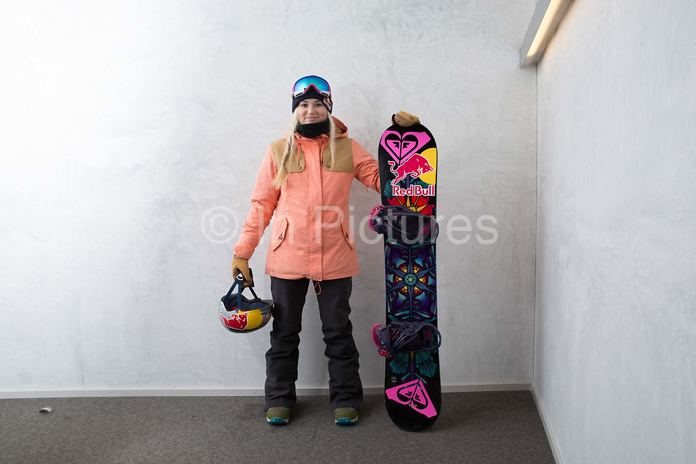 British Olympic Freestyle Snowboarder Katie Ormerod during the Laax Open on 18th January 2017 in Laax Ski Resort, Switzerland.