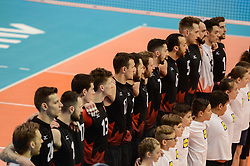 June 17, 2018 - Varna, Bulgaria - Canada national team before the match with France, during Mens Volleyball Nations League, VNL, match between France and Canada at Palace of Culture and Sport in Varna, Bulgaria on June 17, 2018  (Credit Image: © Hristo Rusev/NurPhoto via ZUMA Press)