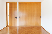 Architecture, Interiors of empty apartment, room with wardrobes