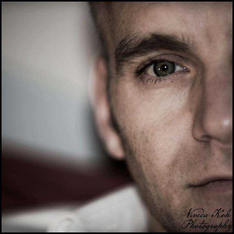 Close-up portrait of a man.