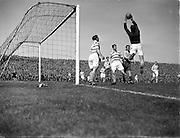 24/04/1955<br /> 04/24/1955<br /> 24 April 1955<br /> Soccer: FAI Cup Final, Shamrock Rovers v Drumcondra at Dalymount Park, Dublin.