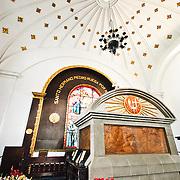 The tomb of Hermano Pedro de San Jose de Bethancourt (St Hermano) in Iglesia de San Francisco in Antigua, Guatemala.