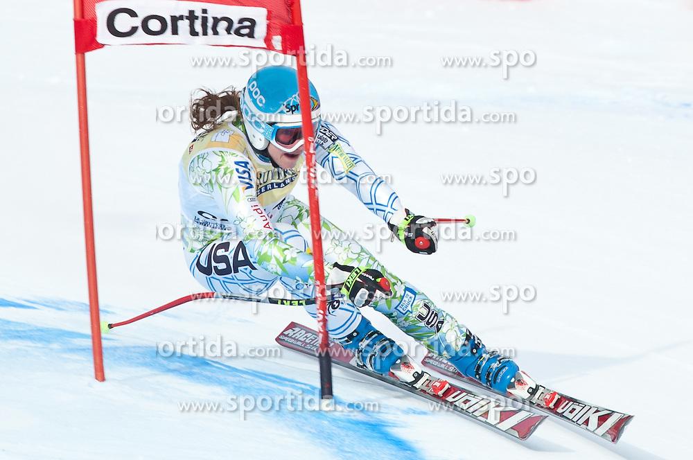 21.01.2011, Tofana, Cortina d Ampezzo, ITA, FIS World Cup Ski Alpin, Lady, Cortina, SuperG, im Bild Julia Mancuso (USA, #11) // Julia Mancuso (USA) during FIS Ski Worldcup ladies SuperG at pista Tofana in Cortina d Ampezzo, Italy on 21/1/2011. EXPA Pictures © 2011, PhotoCredit: EXPA/ J. Groder