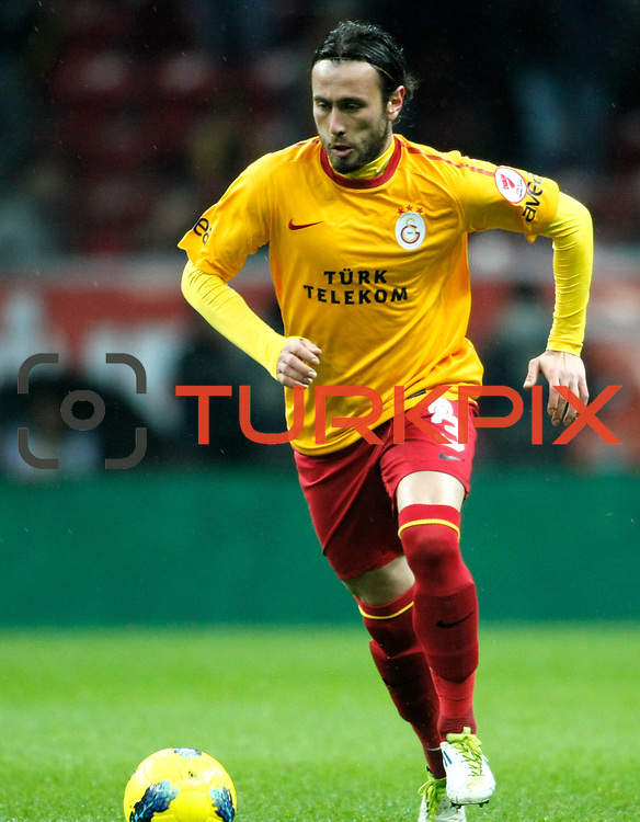 Galatasaray's Caglar Birinci during their Turkey Cup matchday 3 soccer match Galatasaray between AdanaDemirspor at the Turk Telekom Arena at Aslantepe in Istanbul Turkey on Tuesday 10 January 2012. Photo by TURKPIX