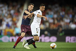 May 9, 2019 - Valencia, Spain - Francis Coquelin of Valencia  and Sead Kolasinac of Asenal during the UEFA Europa League Semi Final Second Leg match between Valencia and Arsenal at Estadio Mestalla on May 9, 2019 in Valencia, Spain. (Credit Image: © Jose Breton/NurPhoto via ZUMA Press)