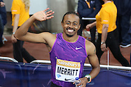 Aries Merritt of USA during the Sainsbury's Anniversary Games at the Queen Elizabeth II Olympic Park, London, United Kingdom on 24 July 2015. Photo by Ellie Hoad.