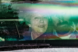 © Licensed to London News Pictures. 07/06/2019. Maidenhead, UK. Prime Minister Theresa May smiles as she leaves her constituency home on the day she stands down as Conservative Party leader. She will remain as acting prime minister until her successor is chosen in July.  Photo credit: Peter Macdiarmid/LNP
