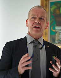 Pictured:  Ian Wooton (Professor of Economics and Vice Dean (research) Strathclyde Business School)<br /> <br /> Conference to examine impact of Brexit on Scottish businesses and public services. The event, organised by the Fraser of Allander Institute and Strathclyde Business School, heard from a numbers of speakers including Mark Taylor (Audit Scotland), John Edward (former head of Office in Scotland, the European Parliament, Professor Russel Griggs OBE, (Chair Scottish Government Independent Advisory Regulatory Review Grioup), Jenny Stewart (head of Infrastructure and Government KPMG), Lynda Towers (Director of public law Morton Fraser), Katerina Lisenkova (Head of economic modelling, Fraser of Allander Institute), Ian Wooton (Professor of Economics and Vice Dean (research) Strathclyde Business School), Alastair Ross FCIPR (assistant Director, Head of Public Policy Association of British Insurers) and  Scottish Brexit Minister Mike Russell<br /> <br /> Ger Harley | EEm 2 March 2017